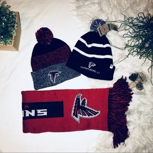 TWO Falcon Beanies ONE Falcon Scarf